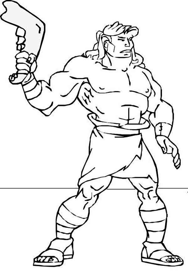 Pin On Samson Coloring Page