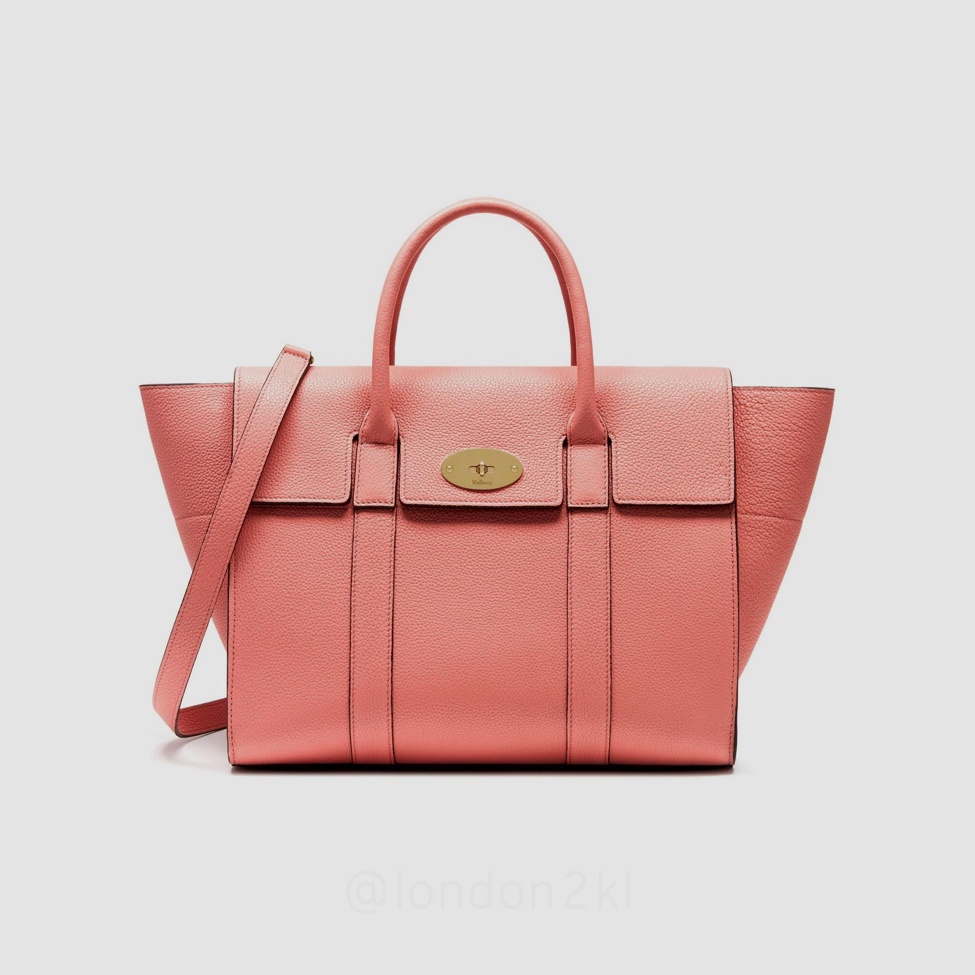 Mulberry Bayswater with Strap Macaroon Pink Small Classic Grain Pink is  cute anytime 6121ccfb3096b