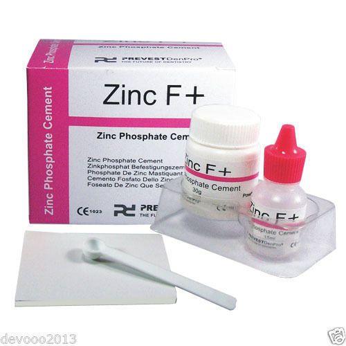 Permanent Dental Zinc Phosphate Cement Tooth Filling Powder Liquid Kit Zinc F #ZincFPlus