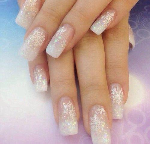 Nail Art Snowflakes Glitter Nail Review