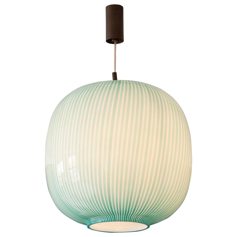 Massimo Vignelli For Venini Glass Pendant Lamp From A Unique