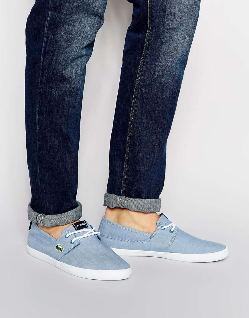 Lacoste Marice Lace Up Chambray Sneakers Mens Fashion Pinterest D Island Shoes Moccasine Slip On Suede Blue