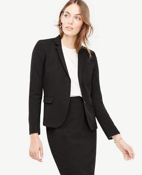 6ce3ff739 Ann Taylor Petite Seasonless Stretch Two Button Perfect Blazer ...