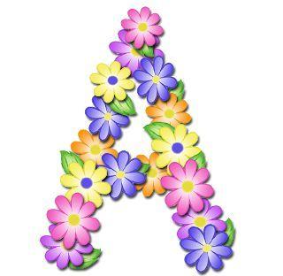alfabeto de primavera letras em png muito lindo letras em png com fundo para scrapbook ou molduras digitais abc flores alfabeto com flores