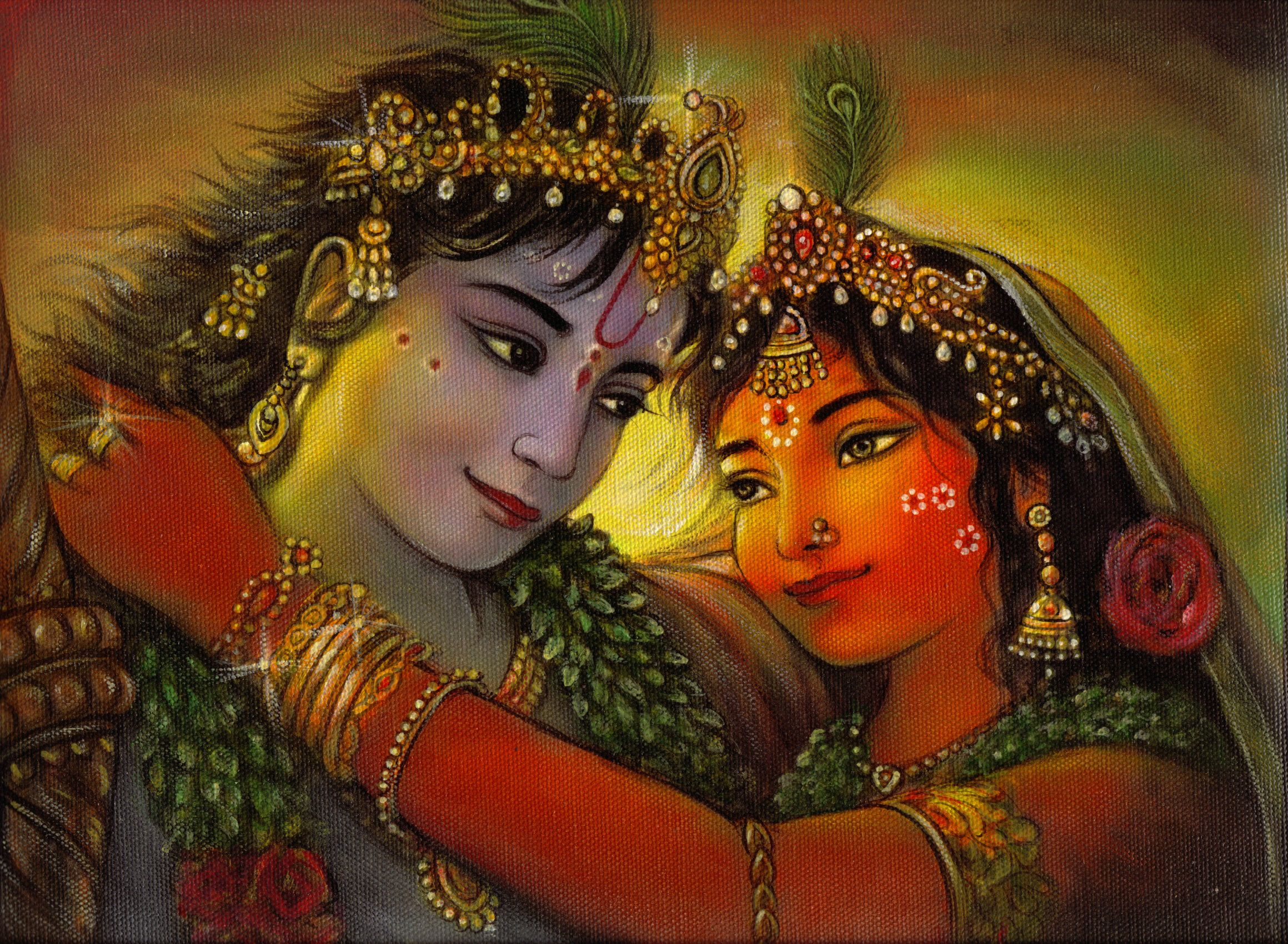 20 modern art paintings of radha krishna hindu art for Mural radha krishna