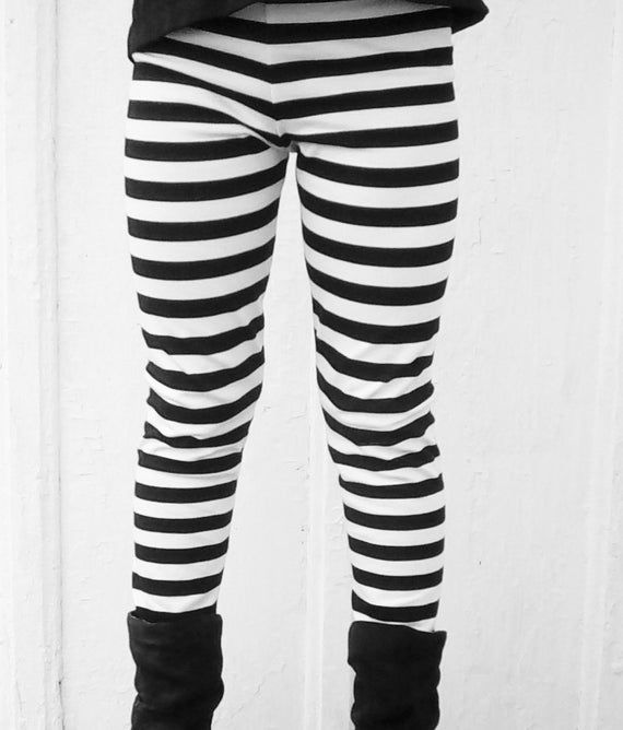 Black and White Stripe Leggings, Baby-Toddler Sizes Newborn - 18-24 Months, black and white baby leg #stripedleggings