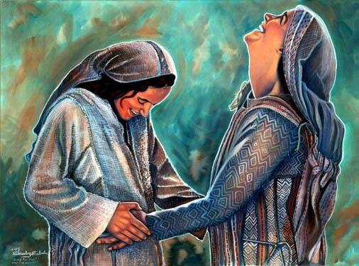 Jump For Joy Mary and Elizabeth | Etsy in 2020 | John the baptist,  Christian art, Catholic
