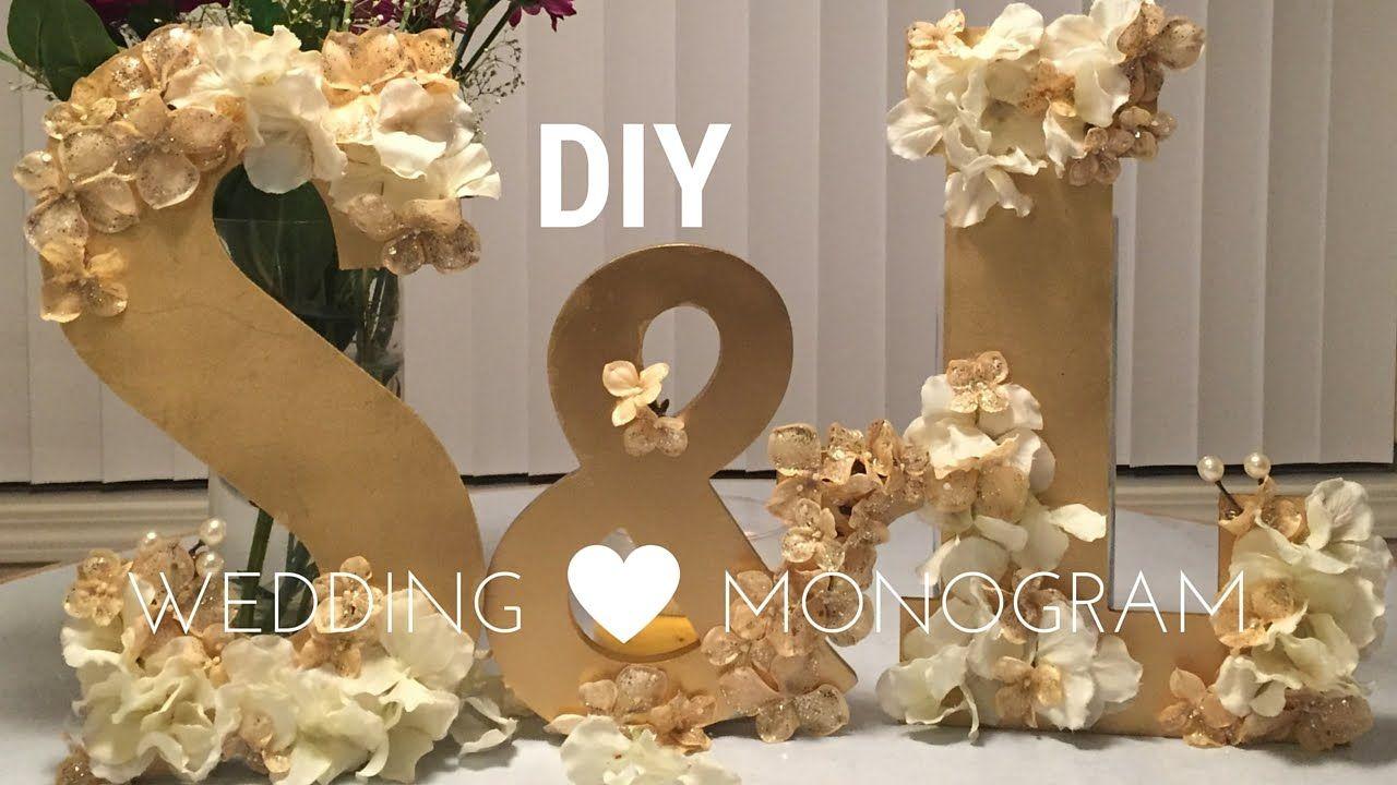 Diy Wedding Decorations Wooden Monogram Set Youtube Wedding