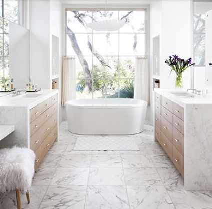 Image Result For Contemporary Master Bathroom White Marble And Wood Serene Bathroom Bathroom Remodel Master Marble Bathroom Floor