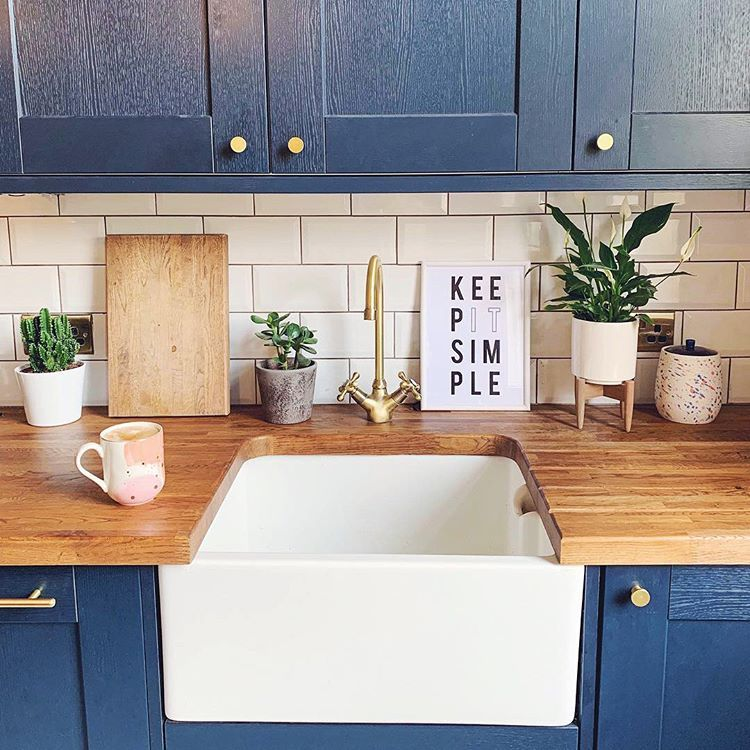 make a style statement like dustsheets and decor has done with the bold hue and wood grain on kitchen decor navy id=33828