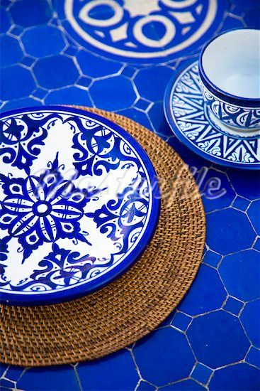 blue ceramics