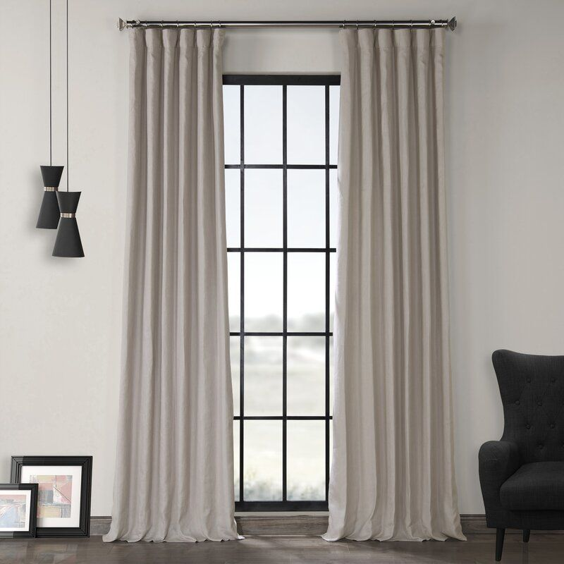 Ennis Room Darkening Rod Pocket Single Curtain Panel Panel Curtains Linen Curtains Lined Curtains