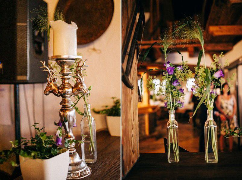 Deko Hochzeit Vasen Natuerlich Alm Tischdeko Wedding