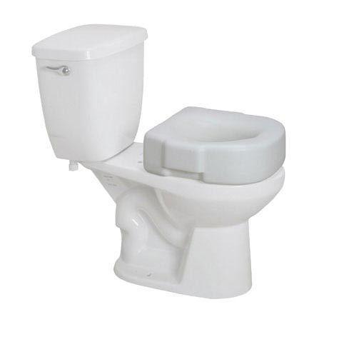 Raised Plastic Toilet Seat White Non Retail Toilet Bath