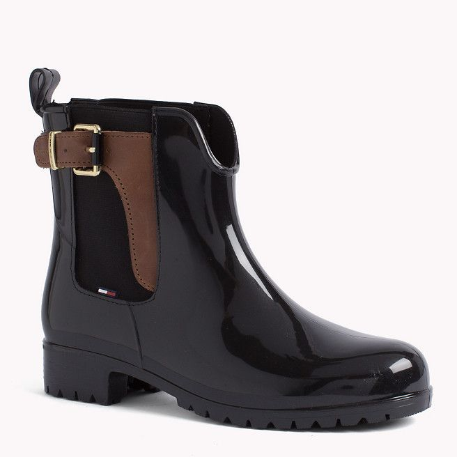 Tommy Hilfiger Oxley Rubber Boot Black Black Tommy Hilfiger Boots Main Image Tommy Hilfiger Ayakkabilar