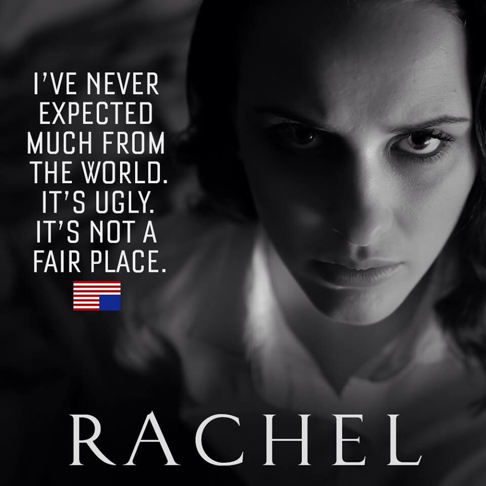 House Of Cards Rachel House Of Cards Tv Show Quotes Cards