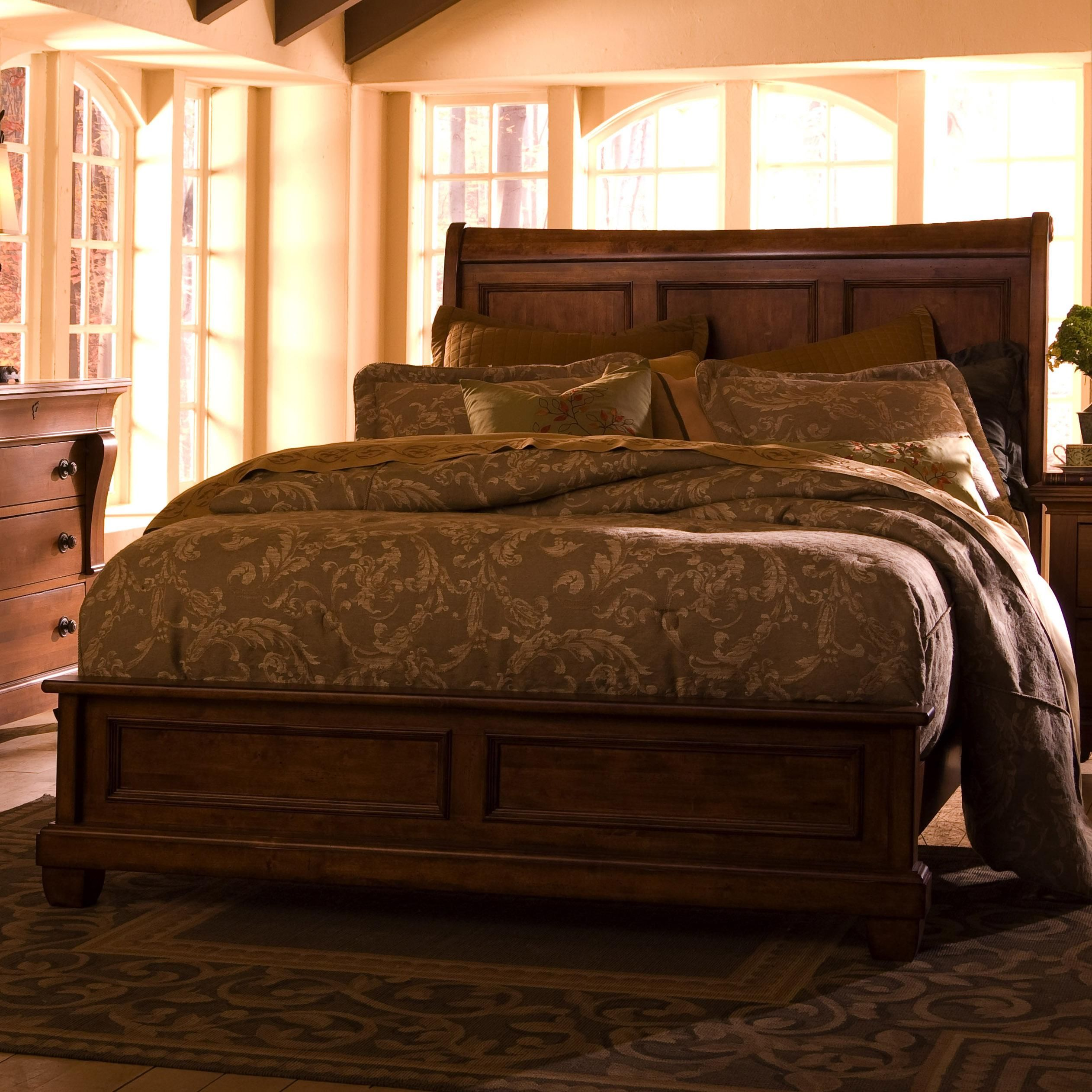 Kincaid Furniture Tuscano King Low Profile Bed with Sleigh