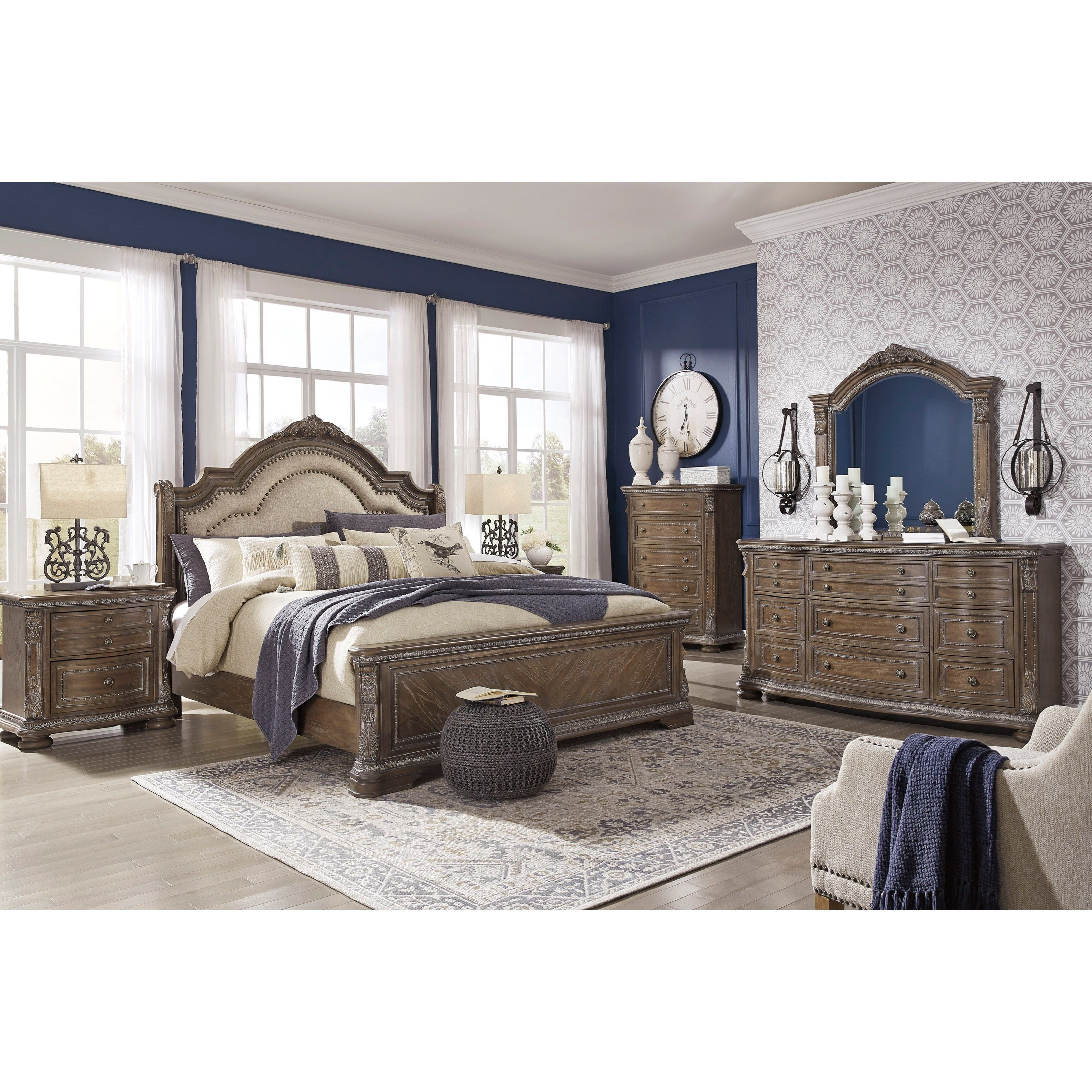 Charmond Queen Bedroom Group By Benchcraft At Virginia Furniture