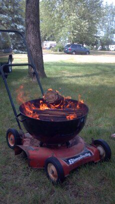 Super Cool Portable Fire Pit. The Owners Of This Campground Made One For  Every Campsite.