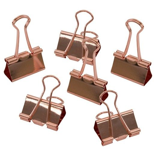 Wire Binder Clips Copper 6 pk - Threshold™ : Target