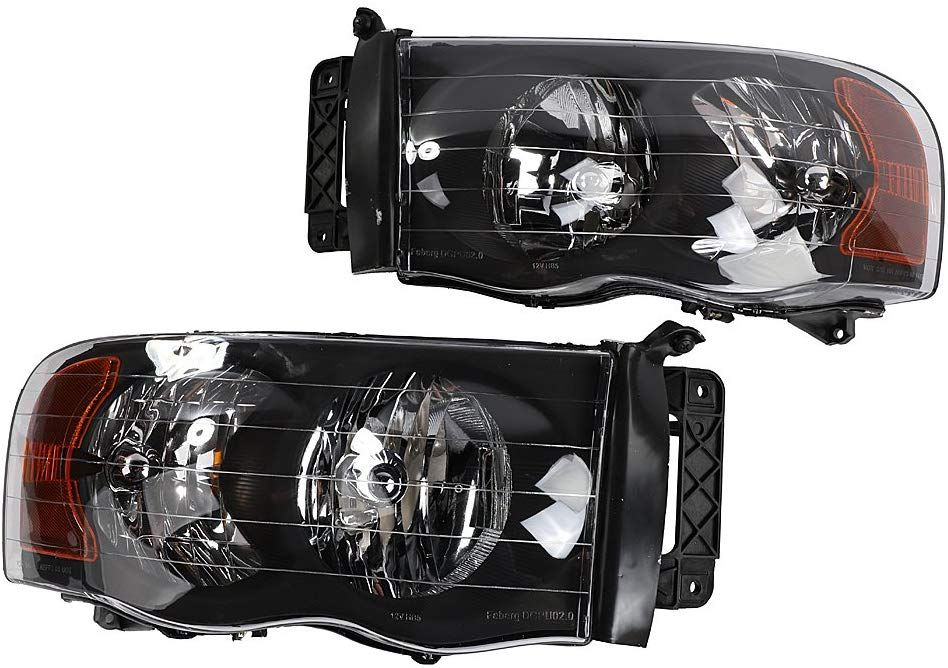 2pc Driver And Passenger Headlights Headlamps Set Replacement Fit For Dodge 2002 2003 2004 2005 Ram 1500 And 2003 2005 Ram 2500 350 Ram 2500 Ram 1500 Headlamps