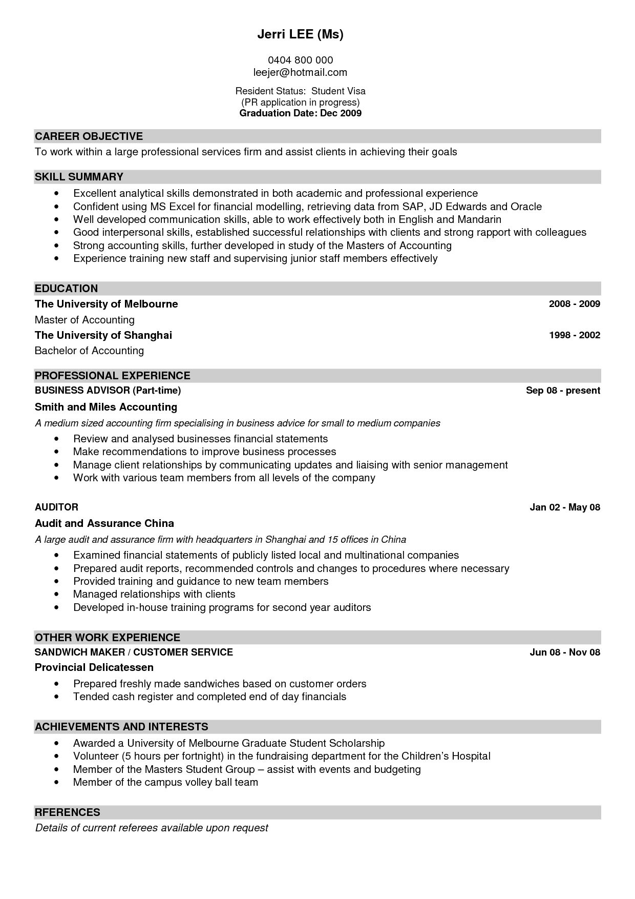 A Good Resume Examples Examples Resume Resumeexamples Resume
