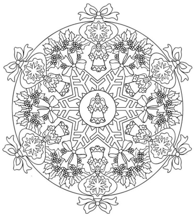 mandala 616 christmas designs 3d coloring book dover publications printables christmas. Black Bedroom Furniture Sets. Home Design Ideas