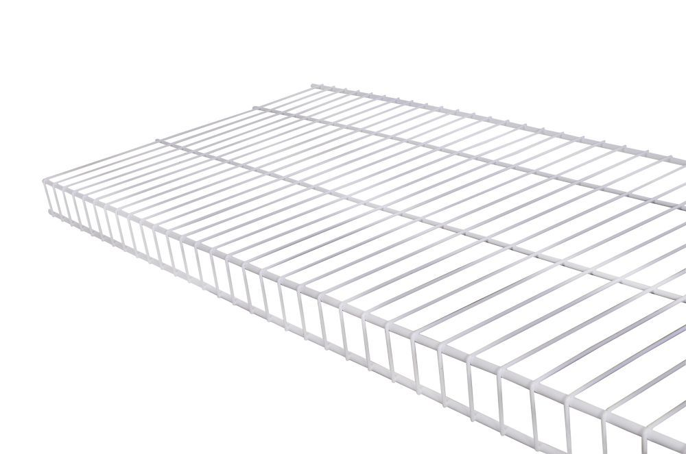 16 Inch X 4 Feet White Linen Wire Shelf Products Wire Shelving