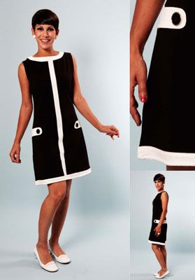 Sixties style dresses