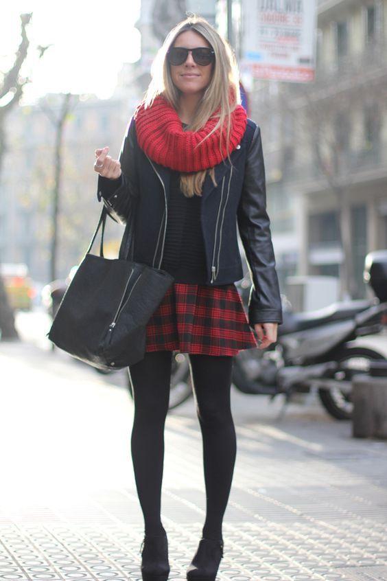 b3ef91967e Skater skirt | Christmas Wish List! in 2019 | Winter skirt outfit ...