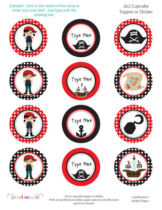 Really Cute Pirate Printables Not Free Projeto Piratas Festas