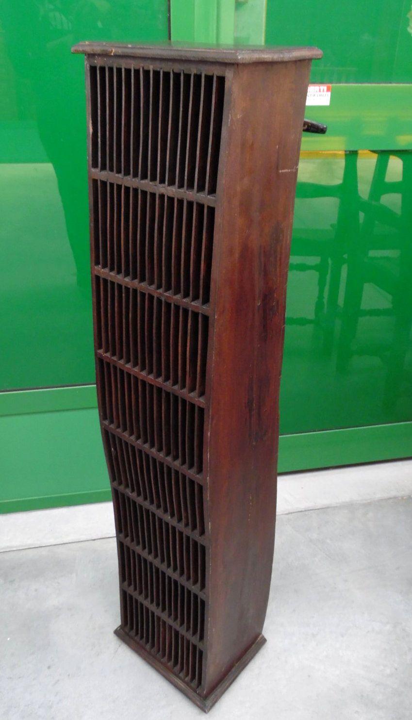 Porta CD etnico in legno massello con movimento a S | Mobili d\'epoca ...