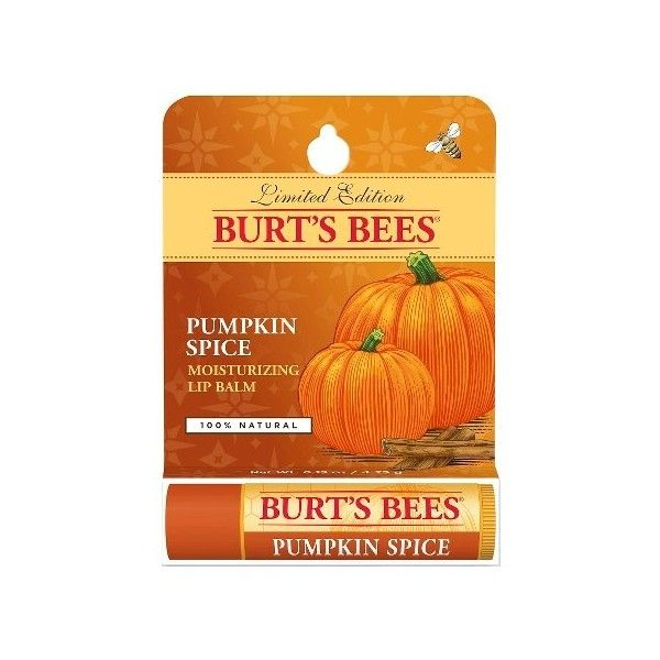 Burt's Bees Pumpkin Spice Lip Balm .15oz : Target (€5,39) ❤ liked on Polyvore featuring beauty products, skincare, lip care, lip treatments, makeup, filler and burt's bees