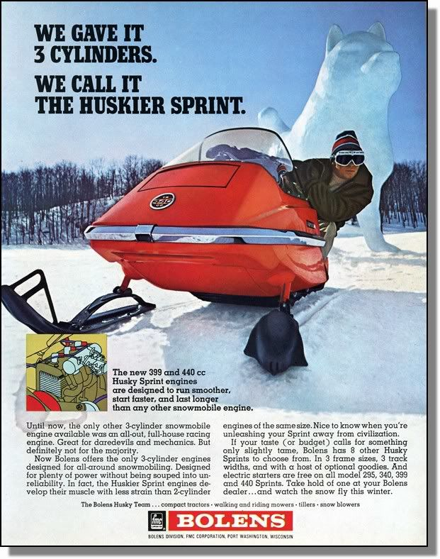 Ski-Doo Snowmobile Vintage 1965 Advertising Poster