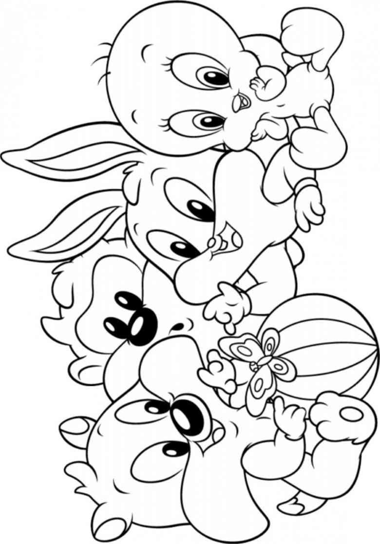 Baby Looney Tunes 60 Ausmalbilder | Ziyaret Edilecek Yerler ...