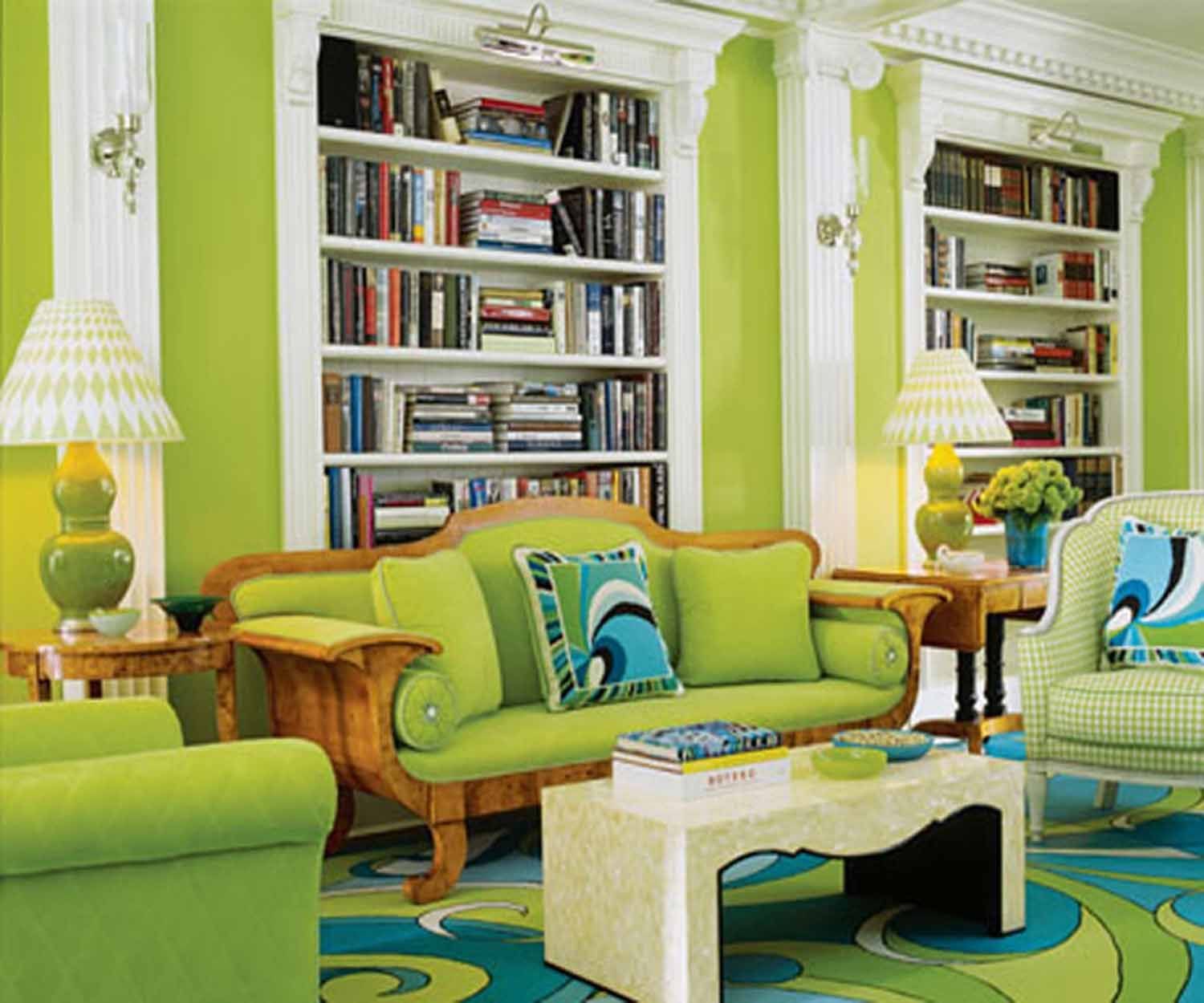 Design Your Own Living Room White And Green Living Room  Fascinating Green Theme Living Room