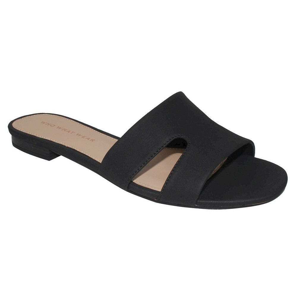 4fe4a63aec2 Women s Carlie Faux Suede Slide Sandals Who What Wear -
