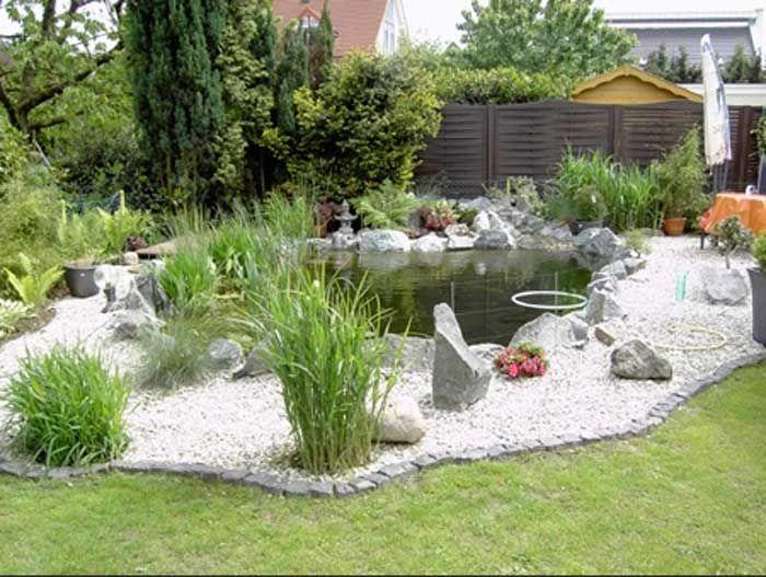 gartenteich bepflanzung ratgeber mit garten weißer kies und garten, Garten dekoo