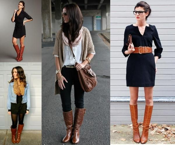 Bottes Marrons Avec Du Noir Tenue Pinterest Outfits Fashion