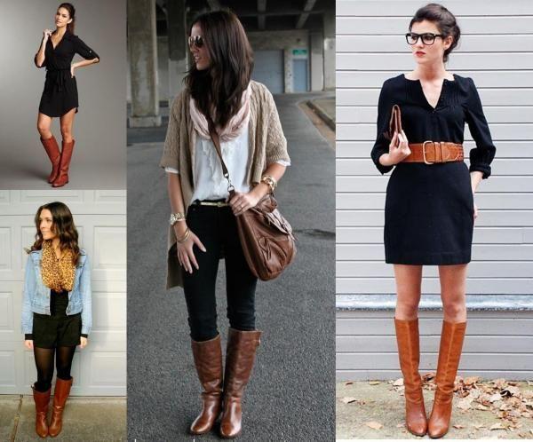 bottes marrons avec du noir mode pinterest bottes marron marrons et bottes. Black Bedroom Furniture Sets. Home Design Ideas