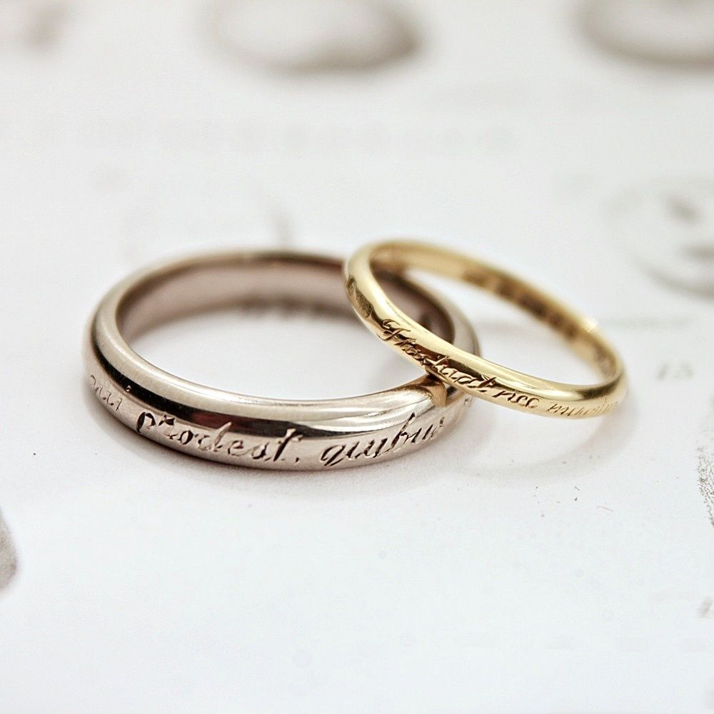 10 Letters Of Personal Engraving Wedding Band Engraving Engraved Rings Stoneless Engagement Ring