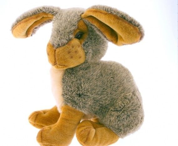 """Huge Fluffy Rabbit Weighted Doorstop Cuddly Toy 20"""" High"""