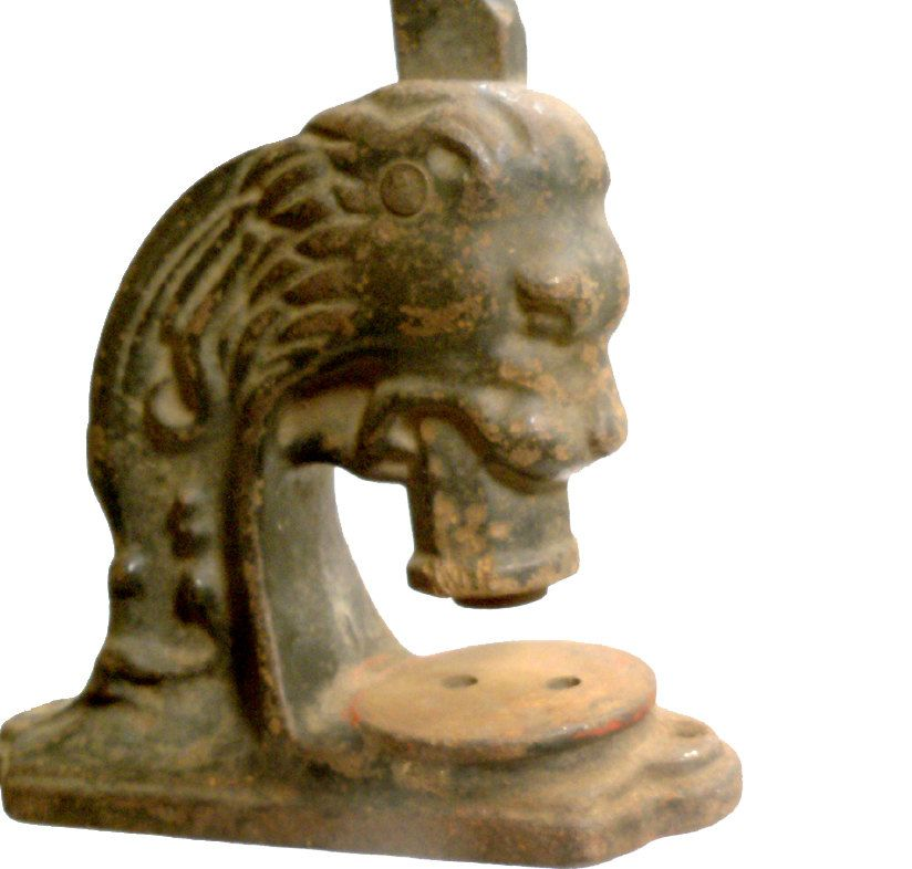 Gorgeous Antique Lion Head Seal Press Embosser Cast Metal. $120.00, via Etsy.  Road Trip Vintage Shop at Etsy  www.roadtripvintageshop.etsy.com