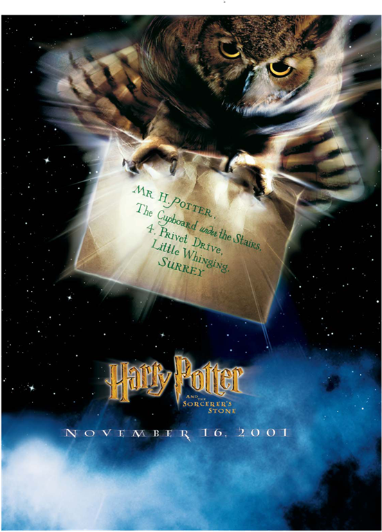 Letter Movie Poster Harry Potter And The Sorcerer S Stone Harry Potter Hogwarts Prints Pictures Posters Coll Harry Potter The Sorcerer S Stone Harry