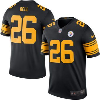 Pittsburgh Steelers  26 Le Veon Bell Black Color Rush Legend Jersey ... b084fadc3