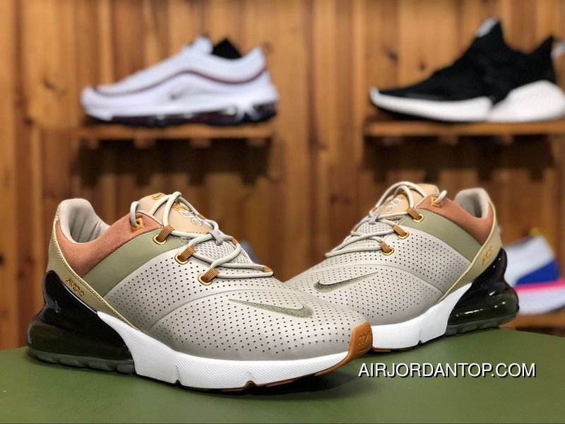 8bd8a60fd6 Nike Air Max 270 Premium AO8283-200 Mens Air Cushion Running Shoes String/Desert  Ochre-Neutral OL - Brown Online
