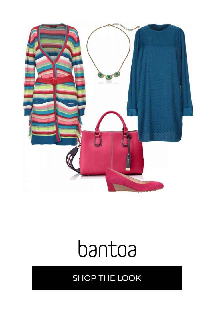a723edcd02 Cardigan dritto in cotone, fantasia righe multicolori, frange laterali,  tasche, cintura con
