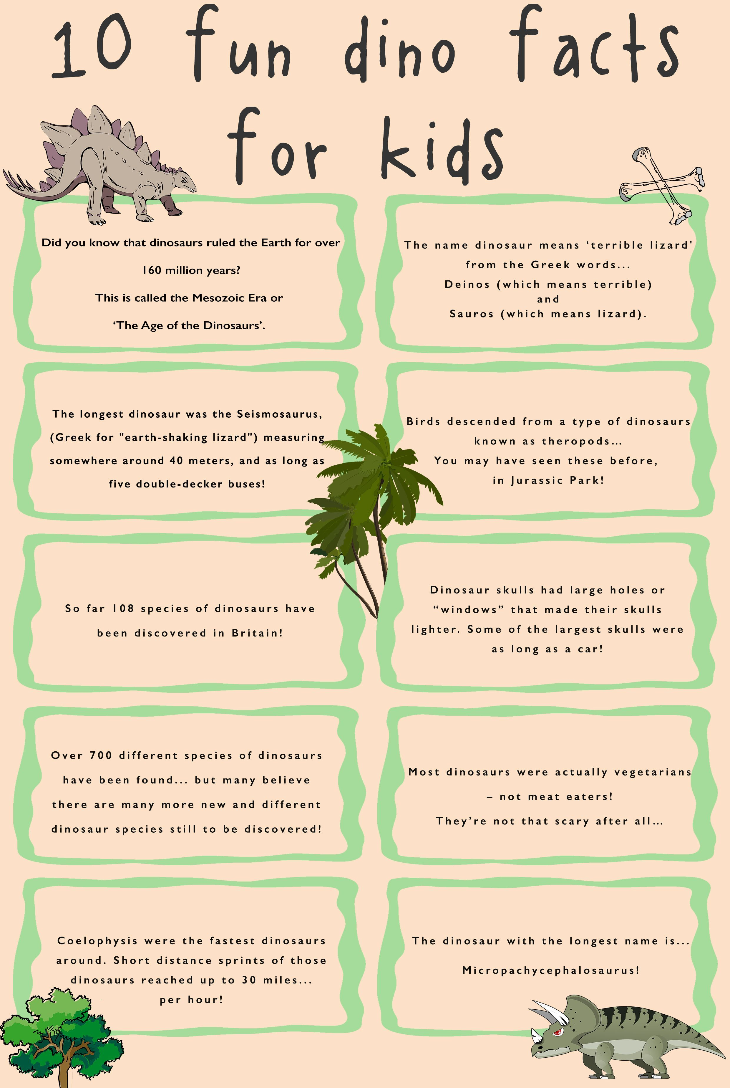Check Out Our 10 Favourite Fun Dino Facts For Kids