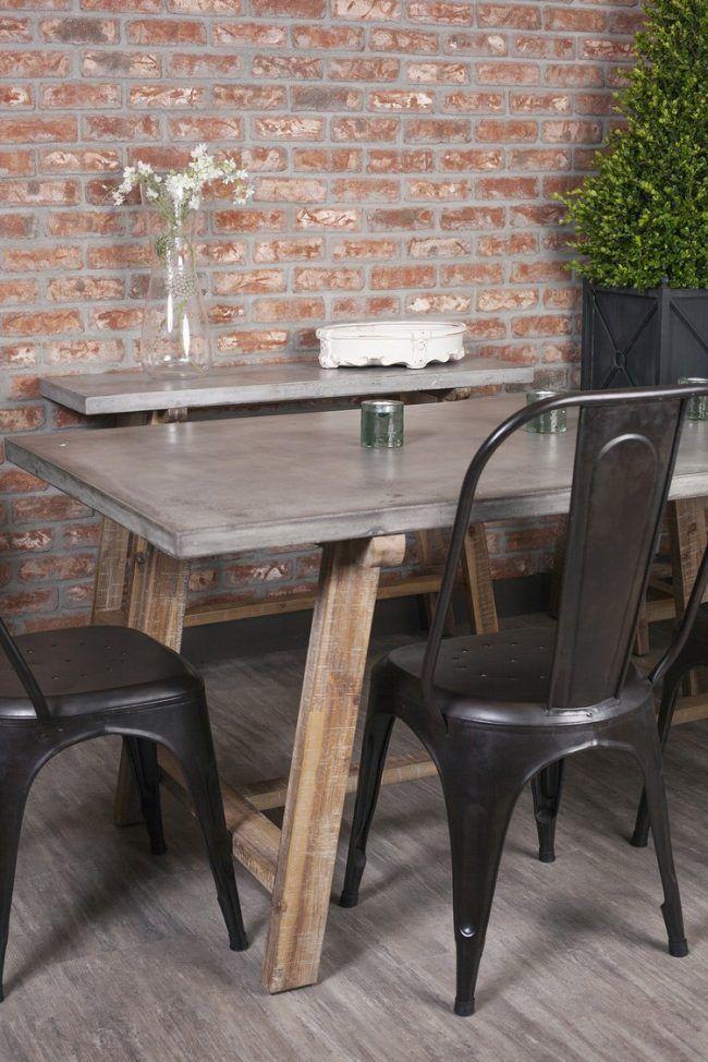 Tisch Betonoptik Esstisch Holz Gestell Metall Stuehle Home Design Ideas