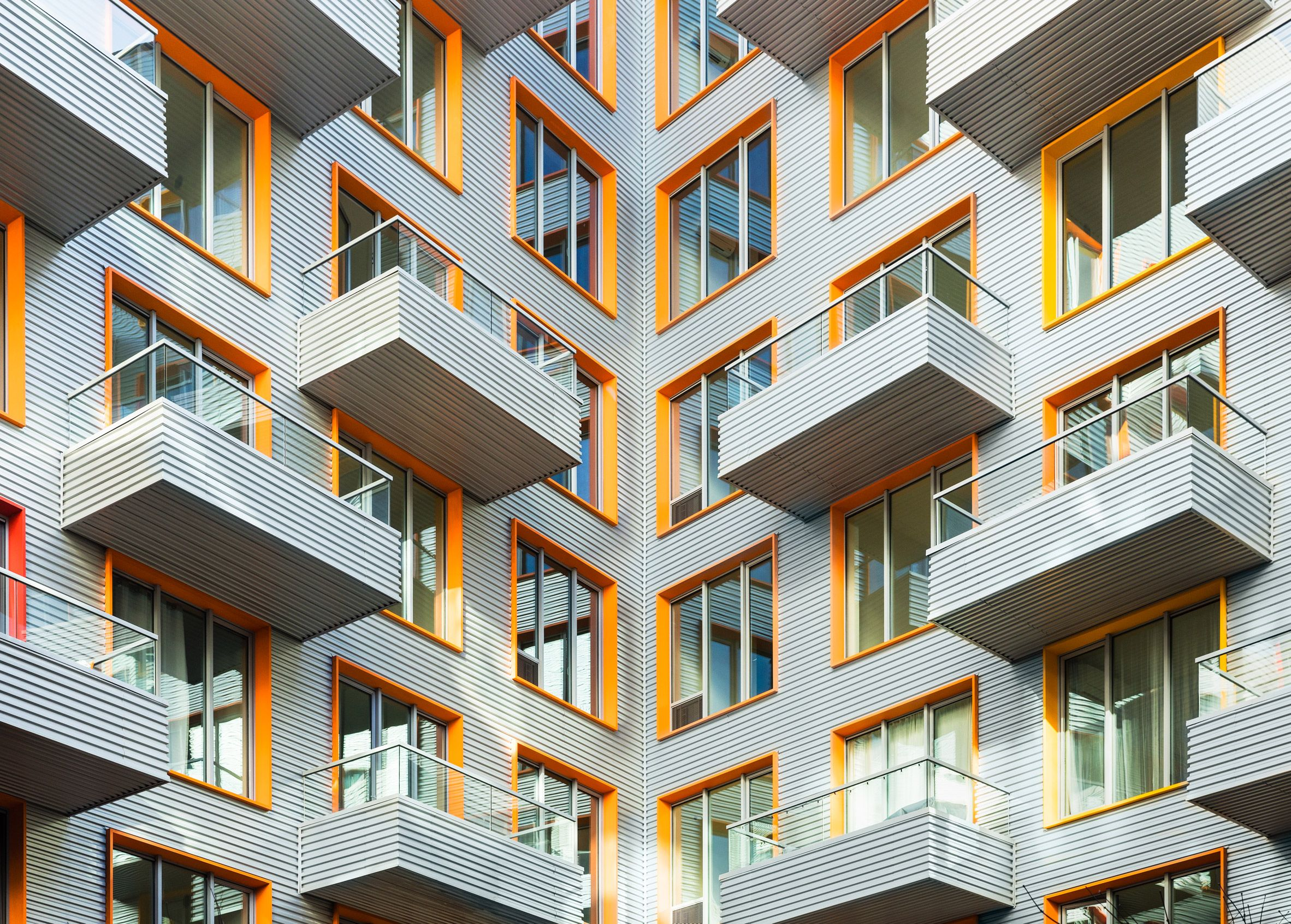 The Rheingold Boasts A Distinct Modular Design With Cascading Terraces And Floor To Ceilin Architecture Courtyard Innovative Architecture Amazing Architecture